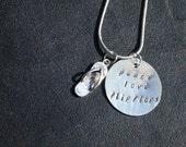 Peace Love Flipflops Charm Necklace