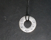 Mens Personalized Names / Dates Necklace