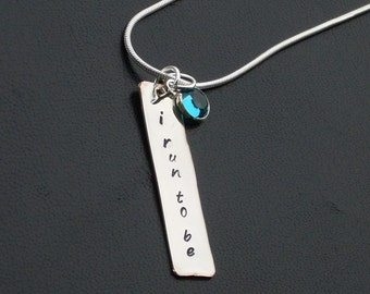 I Run To Be Charm Necklace