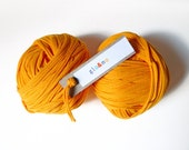 T Shirt Yarn Recycled 158 yards - yellow