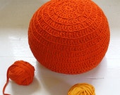 Pouf Crochet T Shirt Yarn - Orange