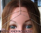5 strand two toned rose gold/ silver head chain. headdress, gypsy, boho, hair chain, headband