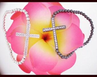 CLEARANCE---Sideway Cross Bracelet