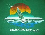 Vintage Island T-shirt Green