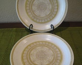 RESERVED for joan - 2 Mint Condition Franciscan Hacienda Green Dinner Plates