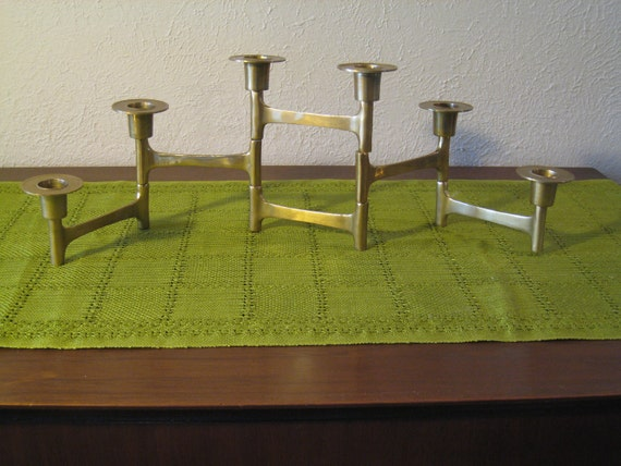 Nagel Stoffi Era / Mid Century Modern / Danish Modern Brass Candle Holder - Articulating Candle Holder - Modernist, Brutalist Era