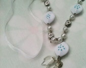The Necklace with white Bead,birthday,party,wedding
