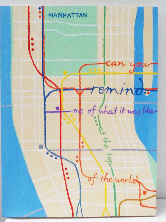 In The Heights: Subway Map Quote