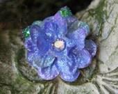 Glittered Light Purple Larkspur Blossom Alligator Hair Clip- Handmade Floral Headpiece