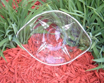 Glass Oval Bowl