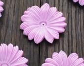 """Large Purple Vintage Flower Beads 1.75"""""""