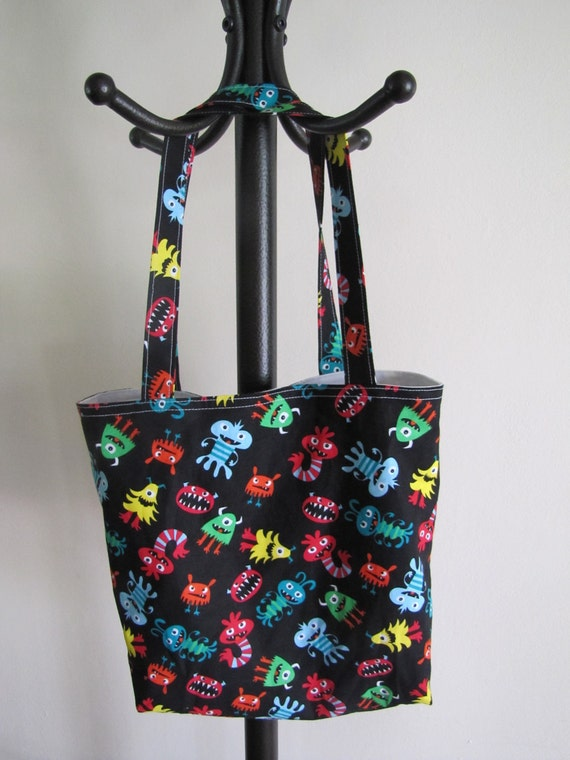 RESERVED for Lara- Monster Library Tote Bag