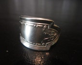 Handmade Silver Sppon Ring Size 8 Silver Jewelry