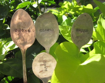 Herb - Garden Markers Silverware Stamped Markers