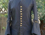 Doctor Who Pirate Coat Amy Pond Renaissance Colonial Cosplay LARP Cotton Twill Costume