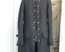 Pirates of the Caribbean Pirate Coat Linen Will Turner Reproduction Frock Historical Costume Sale Price