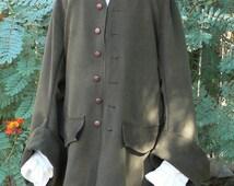 Pirate Coat Suede Look Renaissance Frock Jacket Colonial LARP Costume
