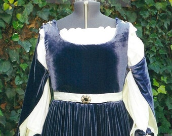 Italian Renaissance Gown Medieval Princess Velvet