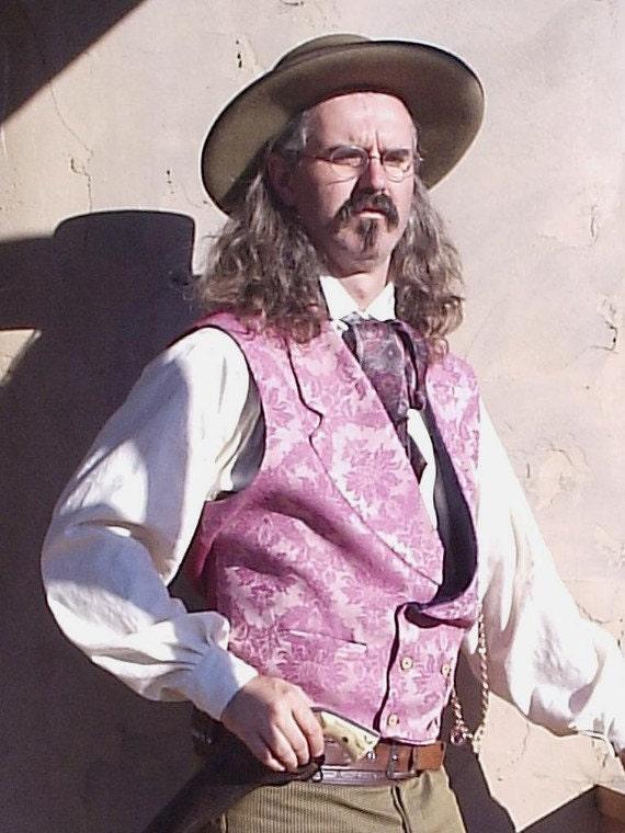 Victorian Mens Vest Brocade Cowboy Waistcoat