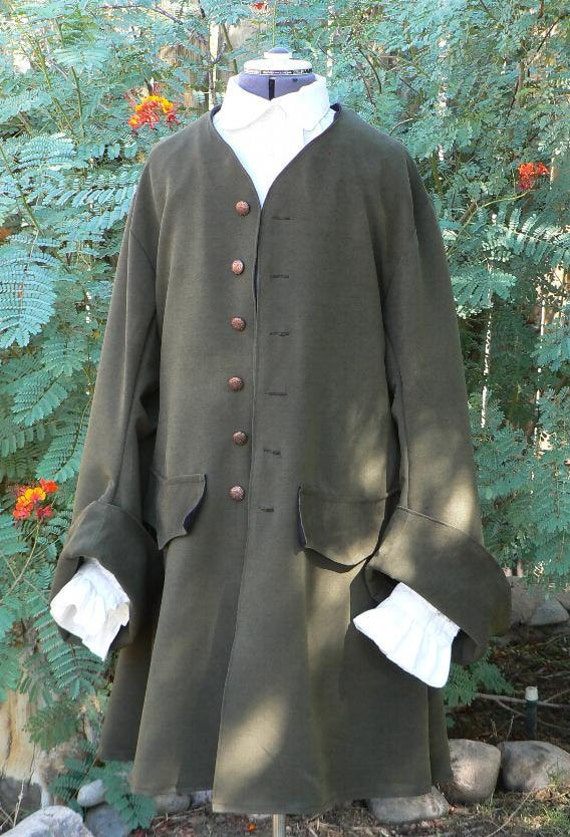 Pirate Coat Suede Look Renaissance Frock Jacket Colonial LARP Costume