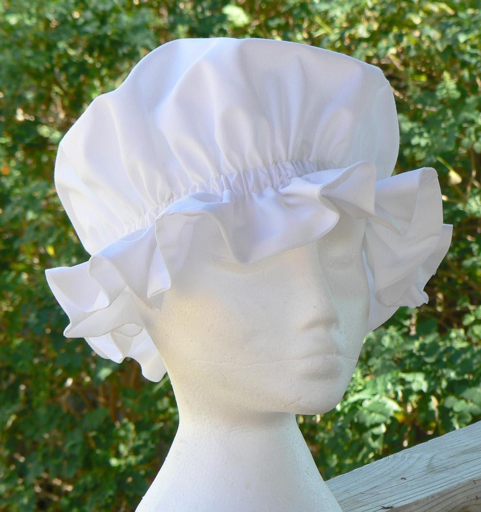 Renaissance Colonial Mob Cap Historical Costume Coif Hat