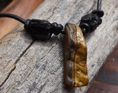 Tigers Eye and Black Tourmaline Necklace