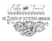 Vintage Monogram Design - Custom Monogram for Stationery, Wedding Invitations, Other Invitations or Crafting Projects