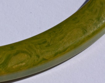 "Bakelite Green Marbled ""Spacer Bangle"""