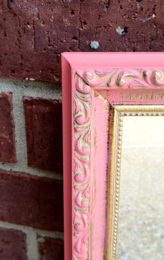 Pink/Coral Wall Mirror