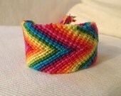 Fat Rainbow Handmade Embroidery Floss Friendship Bracelet