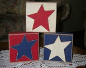 Set of Patriotic Blocks with Stars