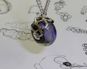 Glass Bead Silver Pendant