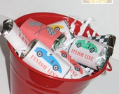 Mini Candy Bar Wrappers, Race Car Party - INSTANT DOWNLOAD - Printable Digital Files