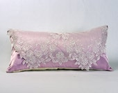 Shabby Chic Pillows, Lace Pillow, Lavender Pillow, Shabby Chic Pillows, Victorian Pillows