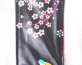 Case for smartphone or glasses - black and fushia oilcloth
