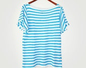 Shortsleeve Striped Sweater