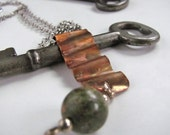 Waves of Copper recycled materials necklace