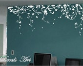 "Vines 87"" X 24"" -Vinyl wall sticker- wall decal- tree decals- wall murals art - nursery wall decals- Nature- Tree"