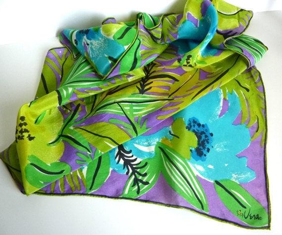 Tropical inspired Vera Neumann Silk Scarf