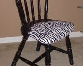 Distressed Wooden Zebra Chair