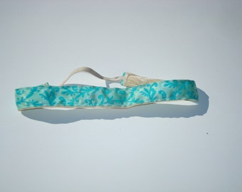 No Slip Comfort Headband - Turquoise Floral, Made to Order