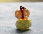 Owlet Flameworked Pendant