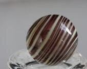 Purple & Yellow Striped Soft Glass Marble