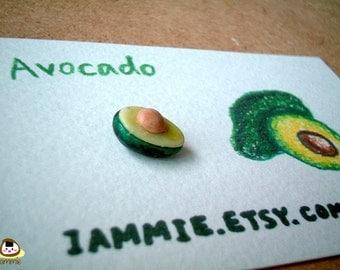 Miniature Clay Avocado Figurine, green, charm, gift box, clay fruits, clay food, accessories, little, small, tiny, iammie, lammie