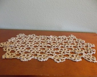 Crocheted Rectangular Doily