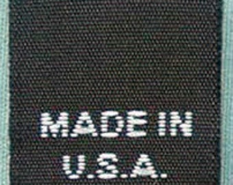 250 pcs  Black Woven Clothing Labels, Care Label - Made In USA