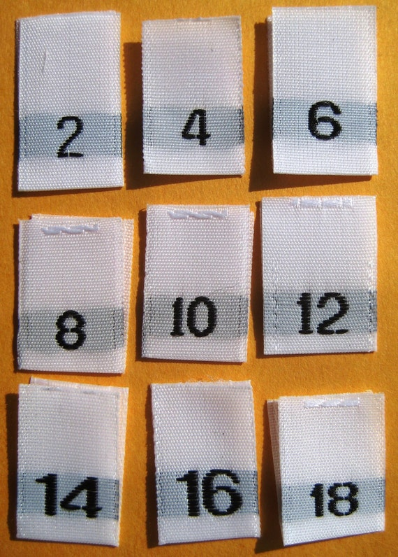 Mixed Lot Of 100 Pcs White Woven Clothing Labels Size Tags