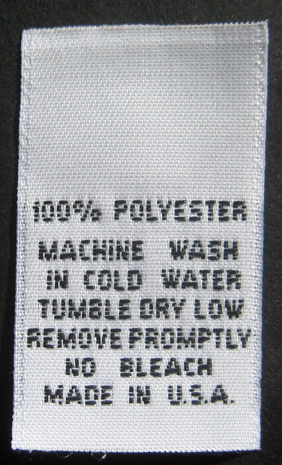 100 polyester care instructions