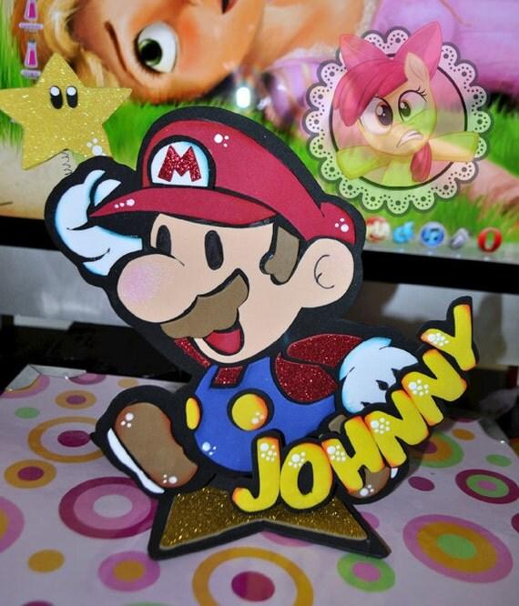 "Super Mario Bros Centerpiece ""Mario"" -  Super Mario Bros centro de Mesa ""Mario"""
