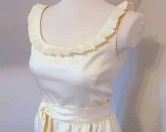 Jackie Bridal -Ruffled Neck Wedding Gown